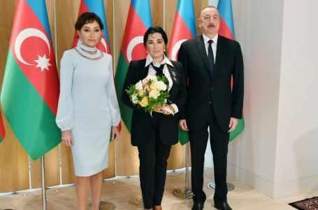 Президент Азербайджана и первая леди встретились с президентом Федерации художественной гимнастики России