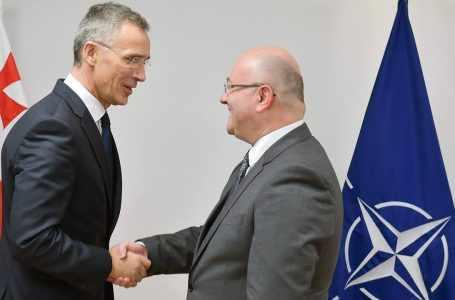 Министр обороны Грузии и генеральный секретарь НАТО встретились в Брюсселе