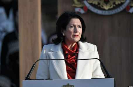 Президент Грузии: Мы строим демократическое, европейское, свободное государство, и вы – главная опора в этом процессе