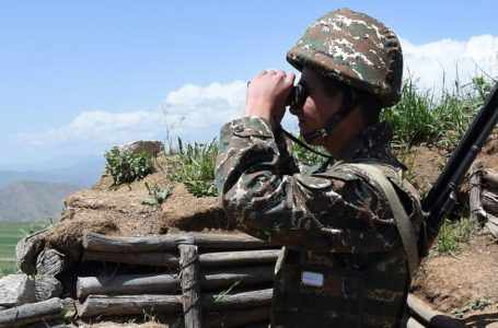 Относительно спокойная ситуация наблюдалась на линии соприкосновения азербайджанских и армянских войск