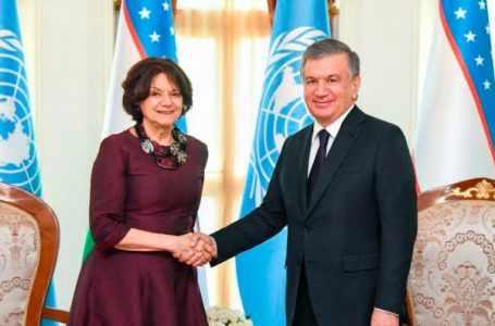 Шавкат Мирзиёев встретился с заместителем Генерального секретаря ООН по политическим вопросам Розмари ДиКарло в Бишкеке