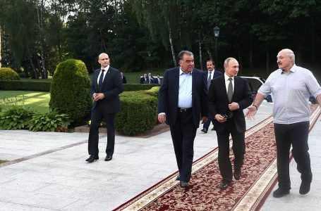 Трехсторонняя встреча глав Таджикистана, Беларуси и России проходит в Минске