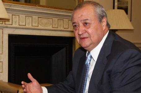 Министр иностранных дел Узбекистана посетит Индию