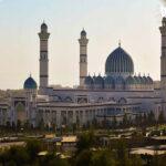 Самая высокая мечеть в центральноазиатском регионе была снята на камеру